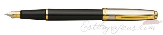 Pluma estilográfica Sheaffer Prelude laca negra y paladio GT 337-0