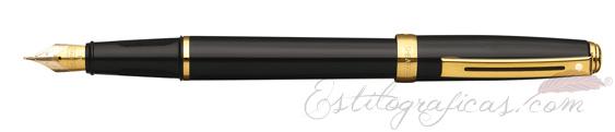 Pluma estilográfica Sheaffer Prelude Laca Negra Brillante 355-0