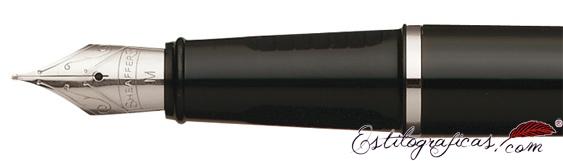 Plumín de pluma estilográfica Prelude  negra y paladio CT de Sheaffer