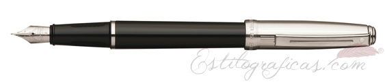 Pluma estilográfica Sheaffer Prelude laca negra y paladio CT 9134-0