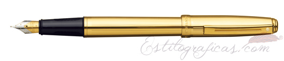Pluma estilográfica Sheaffer Prelude Oro Acanalado 368-0