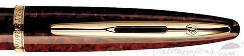 Anillo de pluma estilográfica Waterman Carene Ámbar Marino