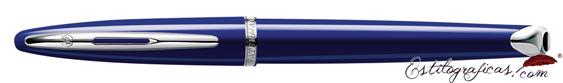 Pluma estilográfica Waterman Carene Vivid Blue cerrada