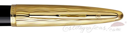 Anillo de estilográfica Waterman Carene Essential Negro y oro