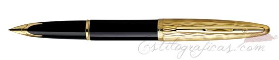 Plumas estilográficas Waterman Carène Essential Negra y Oro