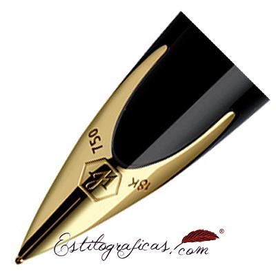 Plumín de pluma estilográfica Waterman Carene Laca Negra GT