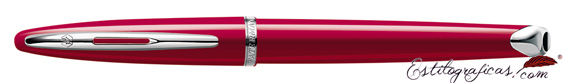 Pluma estilográfica Waterman Carene Glossy Red cerrada