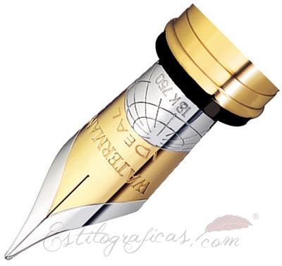 plumín de estilográfica Waterman Exception Oro Macizo