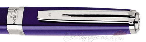 Anillo de Rollerball Waterman Exception Slim Azul ST, Silver Trim