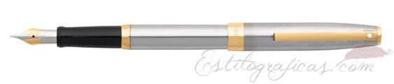 Pluma estilográfica Sheaffer Sagaris Cromo Pulido Gris GT 9473