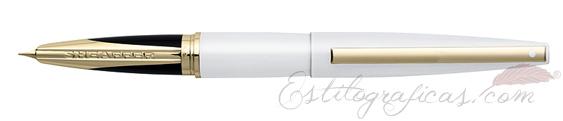 Pluma estilográfica Sheaffer Taranis Blanca Luminosa Rayo 9442