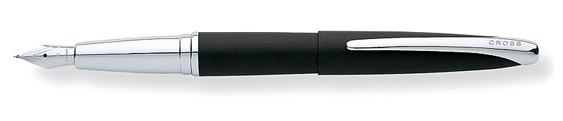 Plumas estilográficas Cross ATX Basalto Negro y cromo brillante