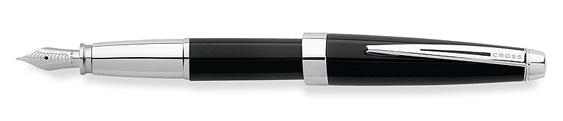 Plumas estilográficas Cross Aventura realizada en resina negra ónice con detalles en cromo