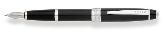 Plumas estilográficas Cross Bailey enlacadas en negro brillante y detalles en cromo