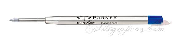 Recambios de bolígrafo Parker azul