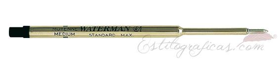 Recambios de bolígrafo Waterman negro