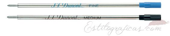 Recambios para bolígrafos finos S.T. Dupont 040870 040850