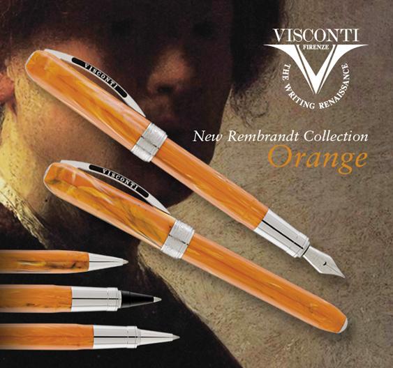 Estilográfica Visconti Rembrandt Naranja
