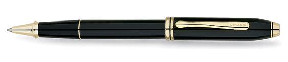 Roller Cross Townsend Laca negra con detalles bañados en Oro de 23 quilates