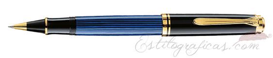 Rollerball Pelikan Souverän R 600 Azul y Negro 988246