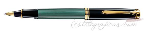 Rollerball Pelikan Souverän R 600 Verde y Negro 979534