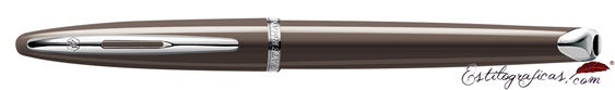 Rollerball Waterman Carene Frosty Browns con capuchón