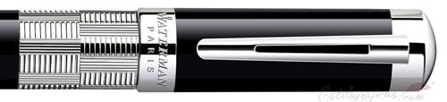 Anillo de Rollerball Waterman Élégance Negro ST, plata y negro