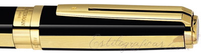 Anillo de Rollerball Waterman Exception Night and Day GT Negro y oro