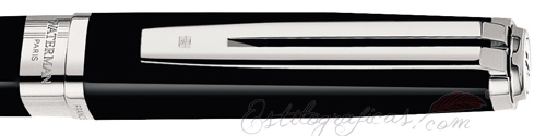 Anillo de Rollerball Waterman Exception Slim Negro ST, Silver Trim