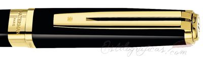 Anillo de Rollerball Waterman Exception Slim Negro GT, Golden Trim
