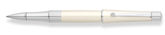 Roller Cross Beverly Laca Marfil Crema y detalles cromados perforados