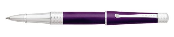 Roller Cross Beverly Laca Púrpura y detalles cromados perforados
