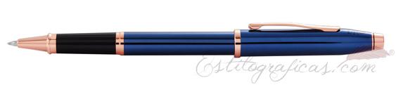 Roller Cross Century II Laca Azul Cobalto y Oro Rosa AT0085-138