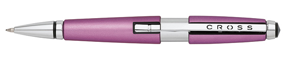 Roller Cross Edge resina rosa suave y detalles cromados abierto