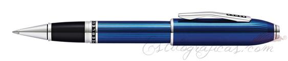 Rollerball Cross Peerless 125 Laca Azul Cuarzo Translúcido AT0705-14