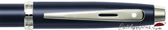 Detalle del roller Gift Collection Azul Naval Pavonado de Sheaffer