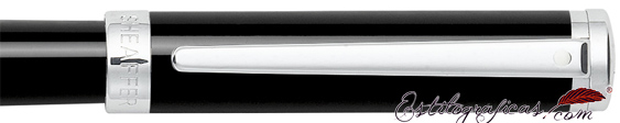 Detalle del roller Intensity Laca Negra de Sheaffer