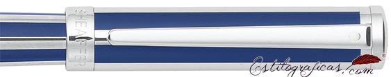 Detalle de rollerball Intensity azul ultramarino y cromo