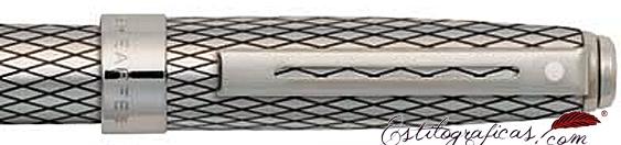Detalle de Rollerball Prelude Signature lacado en paladio de Sheaffer