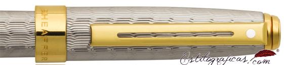 Detalle del Rollerball Sheaffer Prelude Signature piel de serpiente