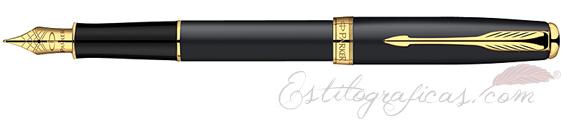Pluma Estilográfica Parker Sonnet Laca Negra Mate GT S0817930