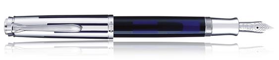 Estilográfica Pelikan Souverän M 625 Azul Marino Transparente