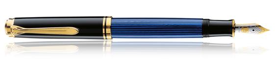 Estilográfica Pelikan Souverän M 400 Negro y Azul