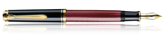 Estilográfica Pelikan Souverän M 800 Negro y Rojo