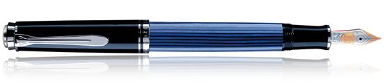 Estilográfica Pelikan Souverän M 405 Negro, Azul y Plata