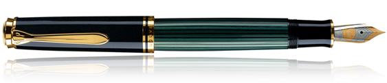 Estilográfica Pelikan Souverän M 1000 Negro y Verde