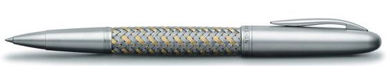 Estilográfica Porsche Design Tec Flex P3110 Acero y Oro
