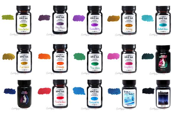 Tintas KWZ base agua para plumas estilográficas, diversos colores