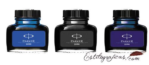 Tinteros Parker, Frascos de tinta super quink Parker