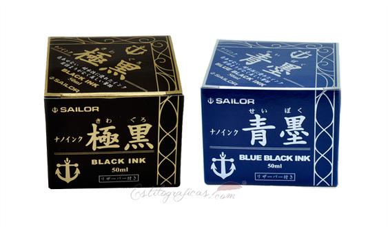 Tinteros de tinta pigmentada Sailor colores